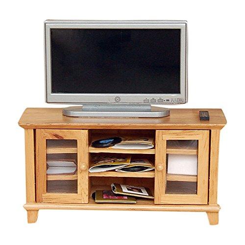 BESTLEE 112 Dollhouse Miniature Wooden TV Stand