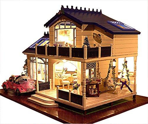 Rylai Wooden Handmade Dollhouse Miniature DIY Kit - Provence lavender Series Miniature Scene Wooden Dollhouses FurnitureParts124 Scale Dollhouse