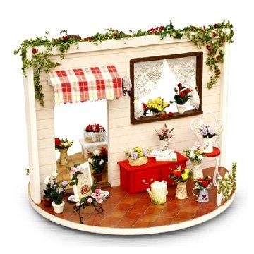 Youku Wooden Handmade Dollhouse Miniature DIY Kit- Rose Garden Model FurnitureParts 124 Scale Dollhouse