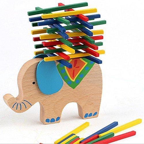 New Kids Smart Toys Wooden Blocks Toy Balancing Elephant Educational Camel Bar Games Toy
