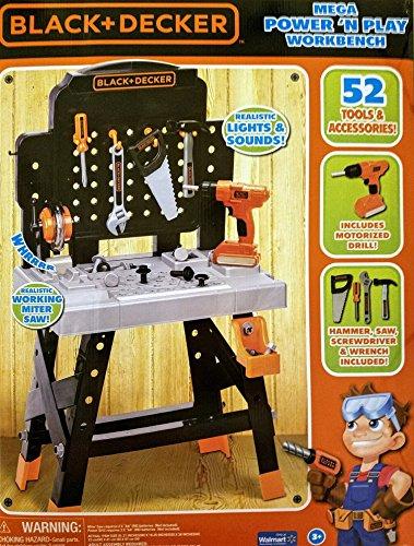 Black and Decker Mega Power N Play Workbench 52 Piece Set