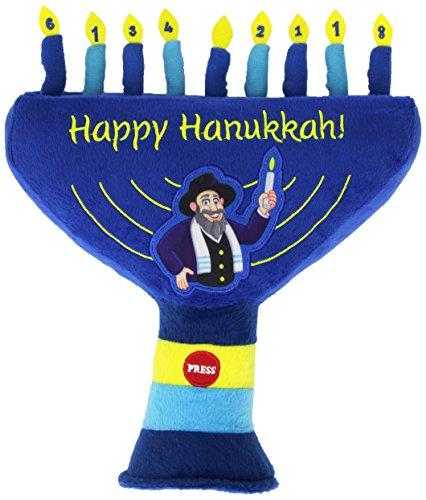The Mensch on a Bench As Seen on Shark Tank Hanukkah Plush Singing Menorah
