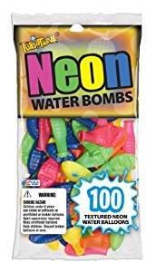 Pioneer National Latex Neon Water Bombs 100 Count Water Balloons Neon