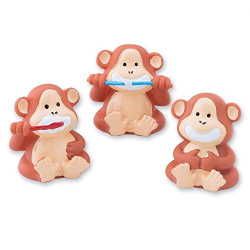Brush Floss Smile Monkey Finger Puppets - Dentist Office Giveaways - 48 per Pack