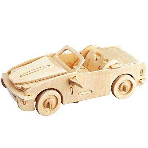 Smilelove 3D Wooden Puzzle Car BMW 740I Large Jigsaw Puzzle Wooden Toys for Children Kids
