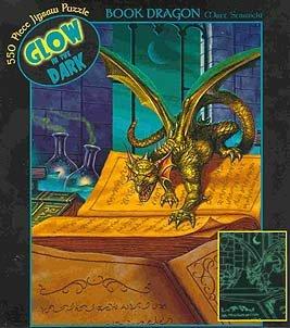 Glow in the Dark Book Dragon Jigsaw Puzzle 550pc