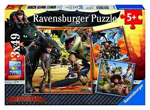 Ravensburger Kids Dragons Jigsaw Puzzle Family Entertainment Game Set by Ravensburger