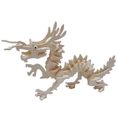 Smilelove 3D Wooden Puzzle Little Dragon Jigsaw Puzzle Kids Children Education Toy