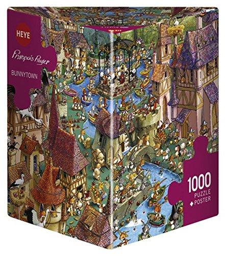 Heye Bunnytown 1000 Piece Francois Ruyer Jigsaw Puzzle