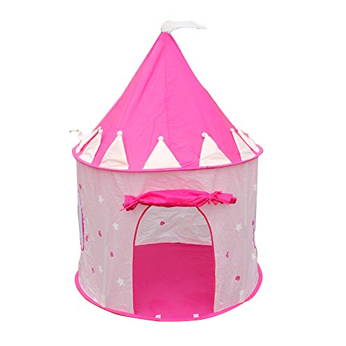 Jocestyle Portable Girls Pink Pop Up Pit Ball Play Tent Princess Castle Outdoor Playing House Without Balls