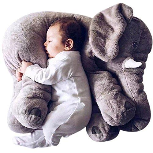 BIG BIG XUAN Baby Kids Long Nose Elephant Doll Soft Plush Stuffed Animal Pillow Toys Lumbar Cushion Pillow 21x18x92 Inches Gray