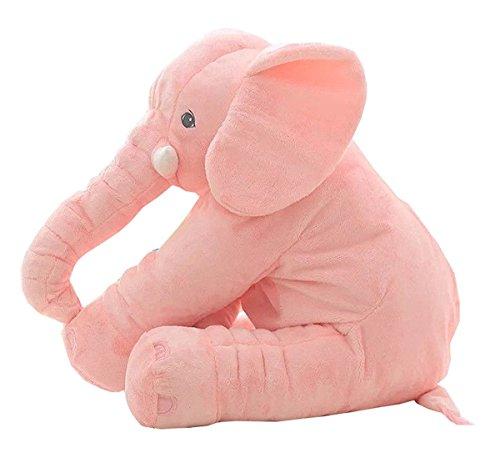Kiicco Baby Elephant Doll Stuffed Elephant Plush Pillow Kids Toy Sleeping Pillow Large Pink