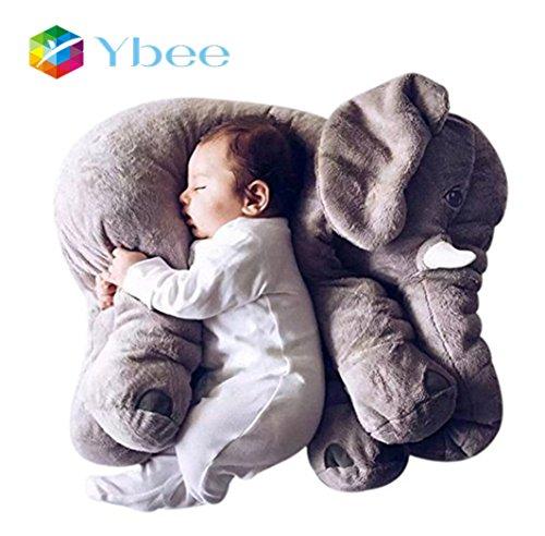 Ybee Baby Kids Long Nose Elephant Doll Soft Plush Stuff Toys Lumbar Cushion Pillow 23617796 Inches