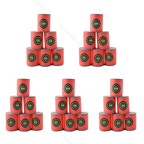 Yosoo 30pcs Soft EVA Bullet Target Dart Foam Toy Gun Shoot Dart for NERF N-Strike Blaster Kids Toy 6PcsSet 5-Set