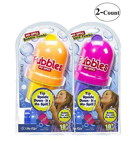 Little Kids Fubbles No-Spill Bubble Tumbler - 2 Pack