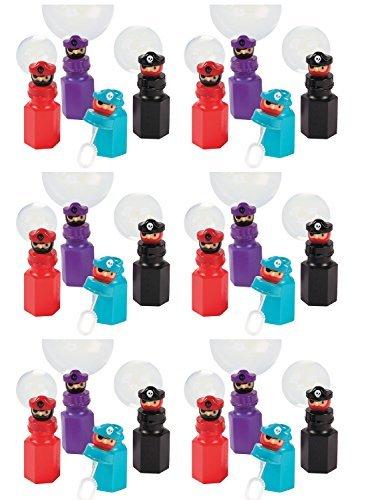 Set of 24 Pirate Character Party Favor Bubbles - 2 Dozen - 06 oz Bottles by FX