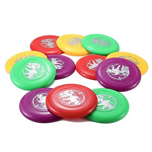 9 Plastic Flying Sports Discs Set of 12