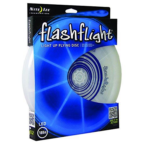 Nite Ize Flashflight LED Light Up Flying Disc Glow in the Dark for Night Games 185g Blue