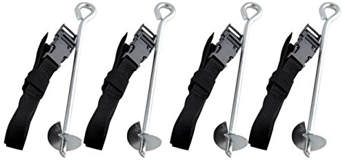 ExacMe Trampoline Safety Anchor Kit Heavy Duty Steel Galvanized Accessories Fixing S001