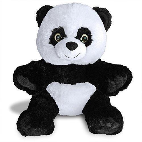 Hashtag Panda Teddy Bear by Build A Furry Friend Cuddly Soft Plush 16 Inch Stuffed Animal Handmade quality With stuffing star-heart birth cert Stuff zip hug in 2 min Best Gift 2015-2016