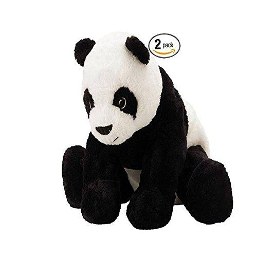 Ikea Panda Teddy Bear Soft Toy Play Black White - 2 pack