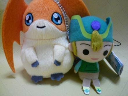 Huge stuffed animal attached to the Digimon Adventure bag  Kyungurumi Takaishi Takeru pattern Mont set