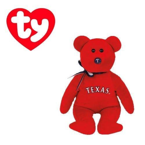 Texas Rangers MLB Beanie Baby - Teddy Bear by TY 41711
