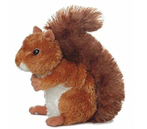 6 Nutsie Brown Squirrel Plush Stuffed Animal Toy - New free shipping