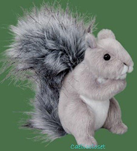 GRAY SQUIRREL Plush Stuffed Animal Realistic Toy NEW