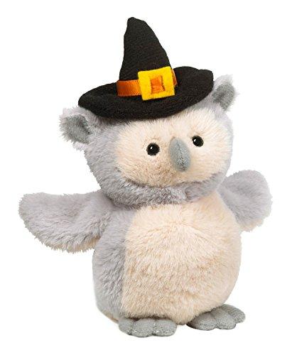 Tan Grey Halloween Owl With Noise Soft Spot Plush by Ganz