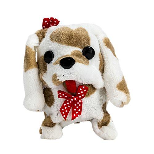 Wonderful Gift Shop Wagging Walking Barking Electronic Brown Spots Plush Puppy Toy