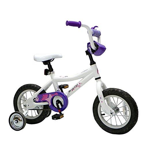 Piranha Bitsy Lady Kids Bike 12 inch Wheels 10 inch Frame Girls Bike White