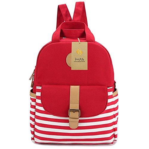 Imyth GirlsBoys Fashion Book Bag Daypack Laptop Bag with Super Magnetic Button