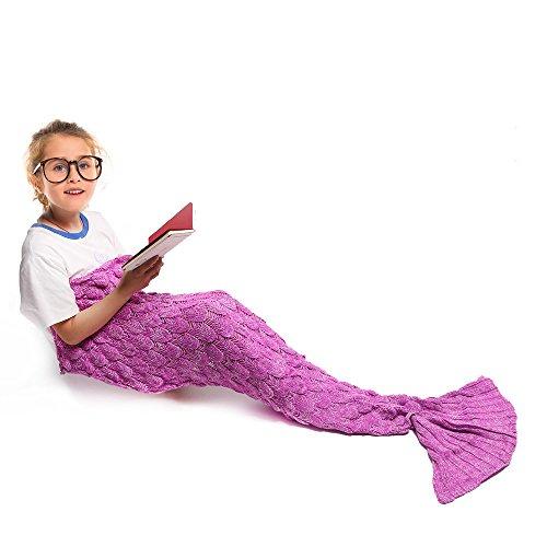 Mermaid Blanket for KidsAmyhomie Mermaid Tail BlanketSuper Soft All Seasons Sleeping Bag rose red