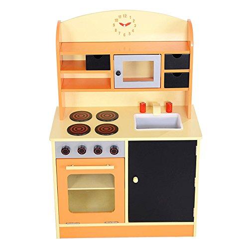 Kissemoji Kids Toddler Cooking Pretend Play Set Wooden Playset Kitchen Toy New