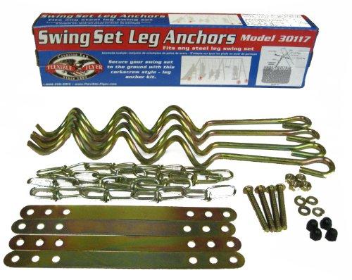 Flexible Flyer Ground Anchor Kit for Metal Frame Swing Sets