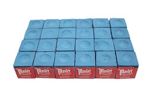 24 pcs Blue Master Pool Cue Chalk