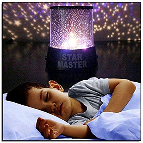AllytechTM LED Star Light Projector Colorful Twilight Romantic Sky Star Master Projector Lamp Starry LED Night Light Kids Bedroom Bed Light Childrens Gift