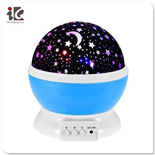 SLICKTRON TM Night Lighting Lamp Romantic Rotating Cosmos Star Sky Moon Projector  Rotation Night Projection for Children Kids Bedroom