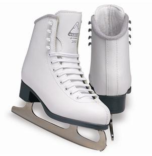Glacier by Jackson GS351 Misses Ice Skates White Recreational Level Figure Skating 1
