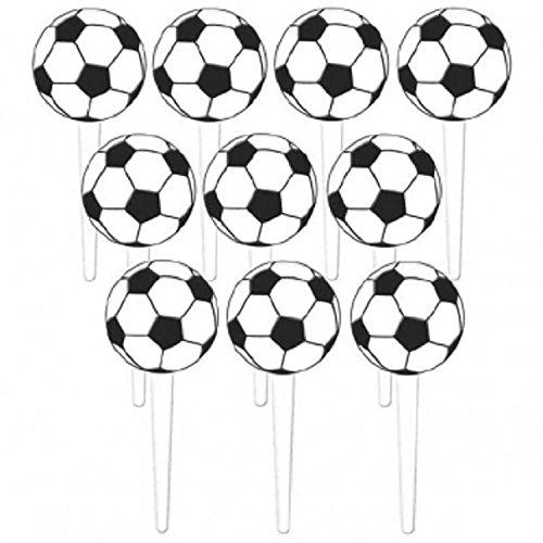 Soccer Ball Cupcake Picks - 36 pcs by Amscan