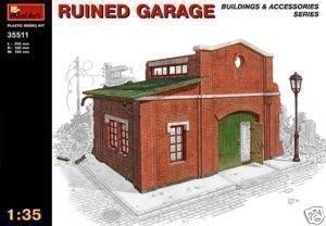 Miniart 135 Blitzed Ruined Garage Model Kit 35511 Diorama Buildings Accessories