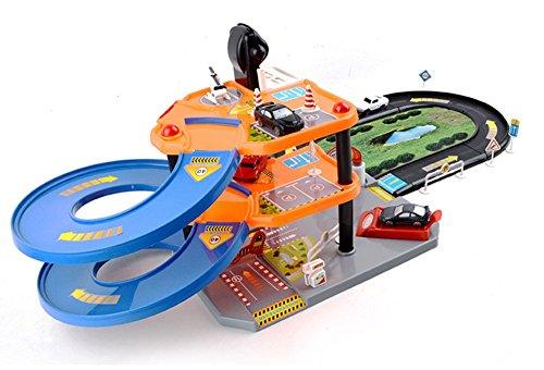 Jutao Childrens Toys Assembled Track Racing Car Boy Simulation Parking Lot