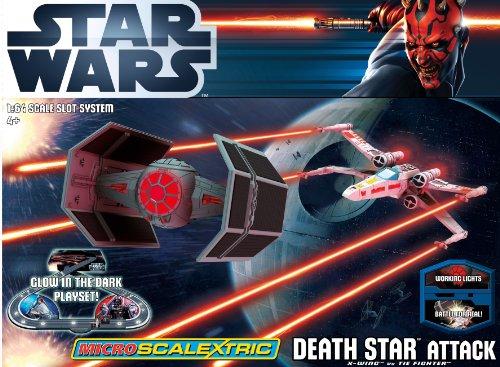 Scalextric 164 Micro Death Attack Star Wars Set - G1084T