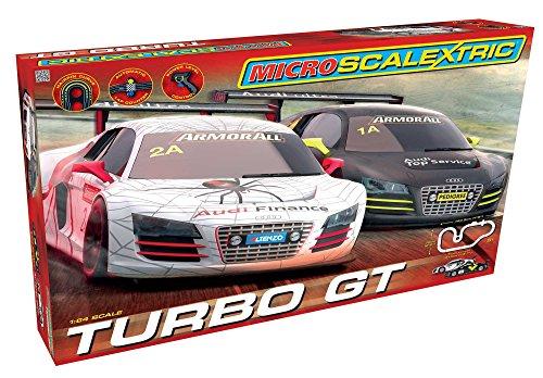 Scalextric Micro G1118T Turbo Gt 164 Slot Car Race Set