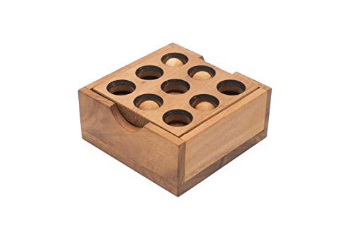 SiamMandalayGopher Holes Assembly Puzzle - Wooden Puzzle 3D Brain Teasers Mechanical Puzzle Lifetime Guarantee