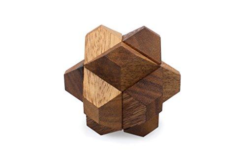 SiamMandalays Blooming Star - Wooden Interlocking Mechanical Puzzle