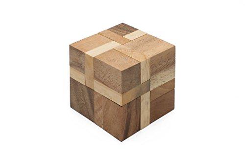 SiamMandalays Flash Cube Interlocking Mechanical Puzzle Wooden Puzzle 3D Brain Teaser