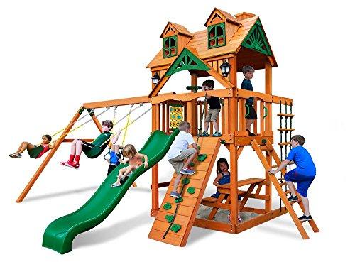 Cedar Swing Set with Amber Posts