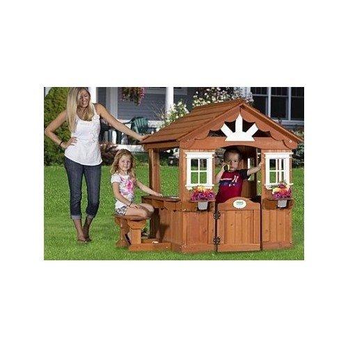 Scenic Playhouse Cedar Swing Set